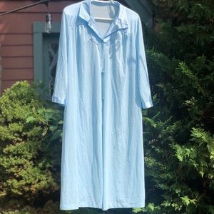 Vintage light blue nightgown, L